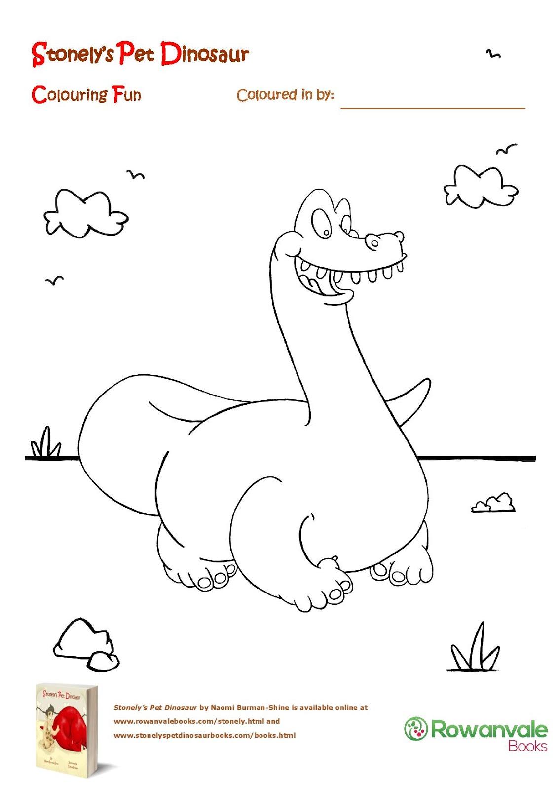 stonely u0027s pet dinosaur plenty of voting colouring and roarrring