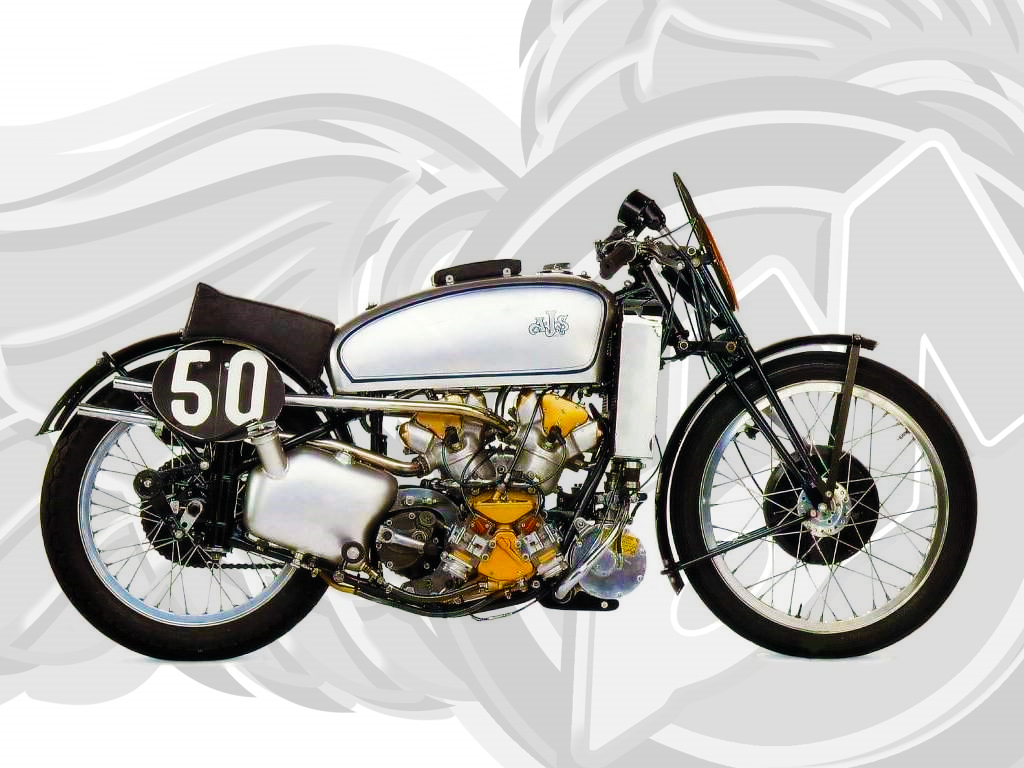 supercharged ajs v4 500cc from 1939