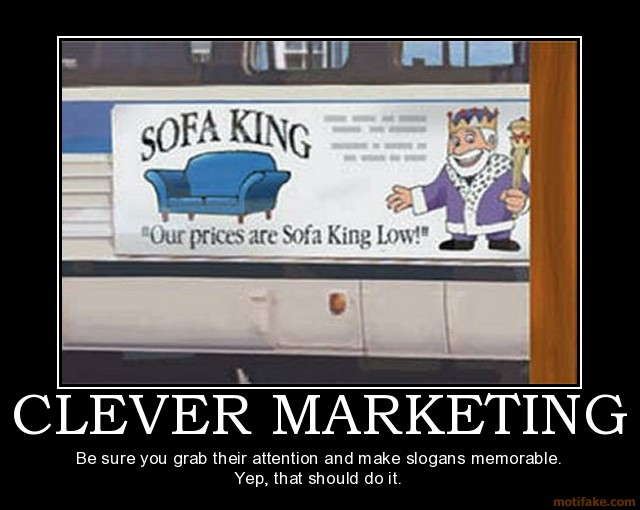 There sure is a whole lot to be said about clever marketing