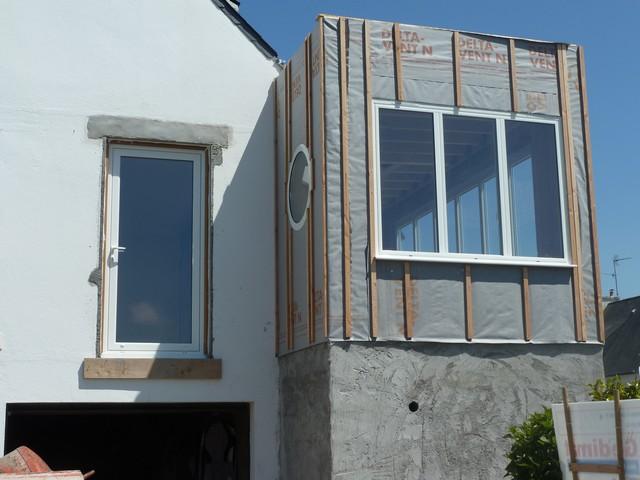 Extension maison louannec l 39 extension pratiquement hors d 39 eau et hors d 39 air for Baie vitree fixe