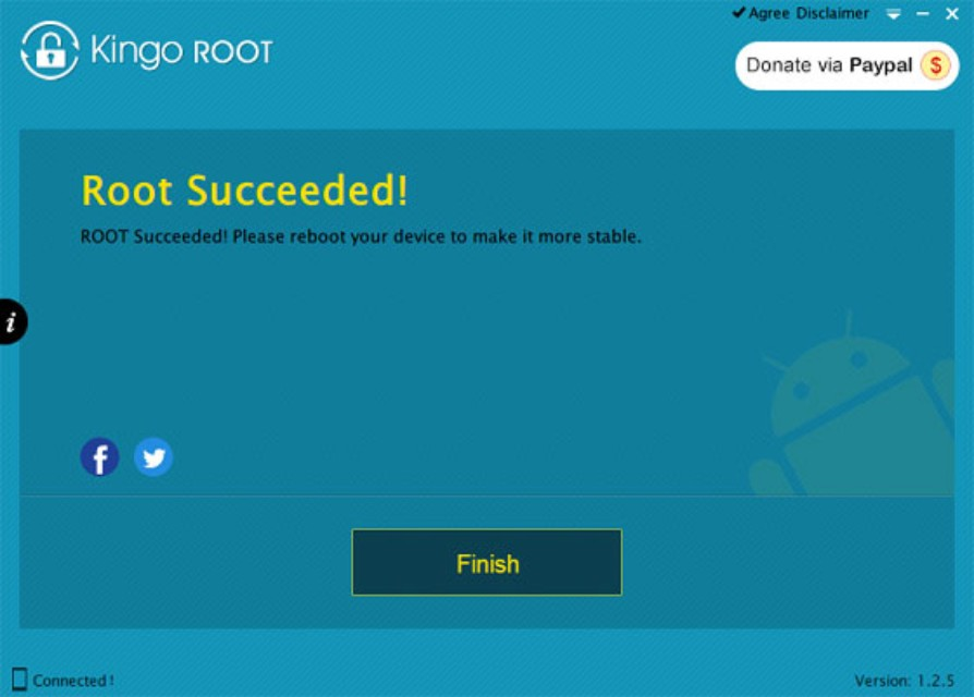 kingo android root succeeded rooting device