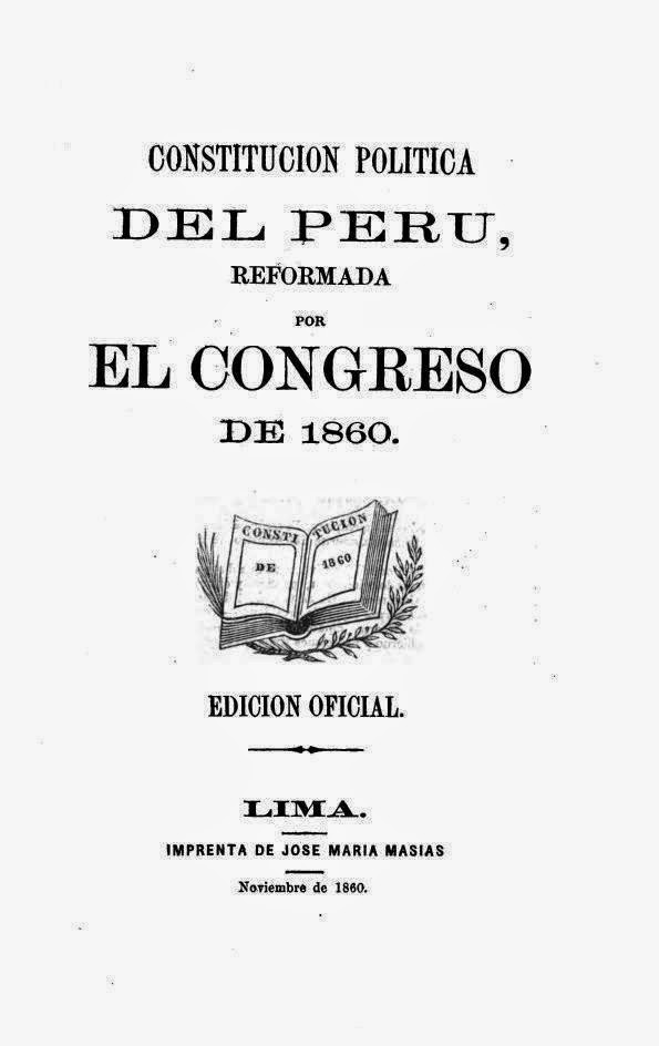 Constitución Política del Perú, Reformada por el Congreso de 1860