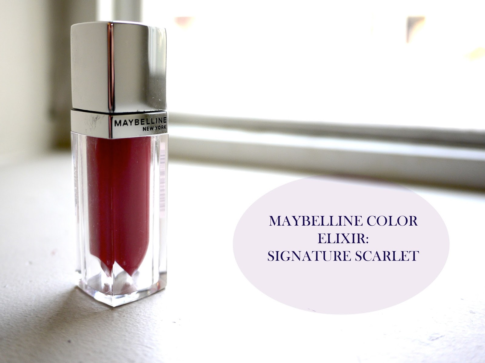 maybelline color sensational color elixir signature scarlet review swatch