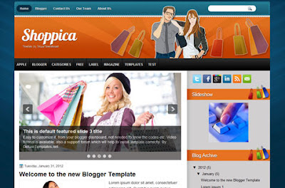 shoppica blogger template
