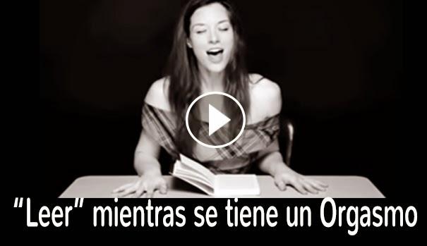 CURIOSIDADES (VIDEO) - Artista graba a mujeres leyendo mientras un vibrador las lleva al orgasmo.