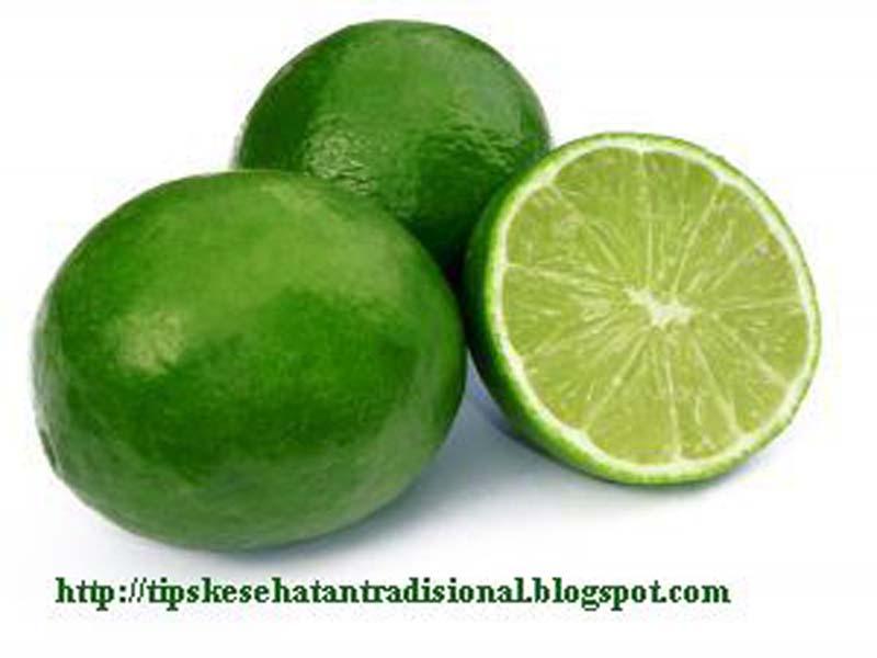 Jeruk nipis banyak mengandung citric acid, yang mampu menghilangkan