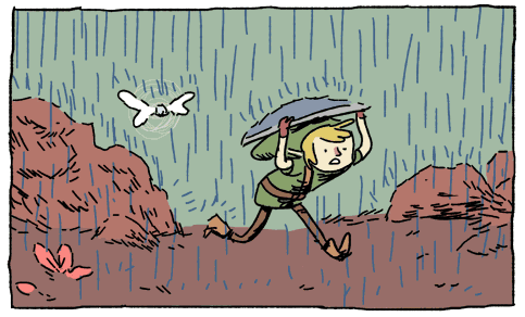 zelda link fairy rain shield
