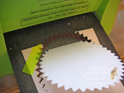how to make easel cards cut below die