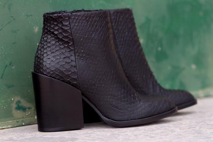 Sales Zara Ankle Boot in python engraved leather