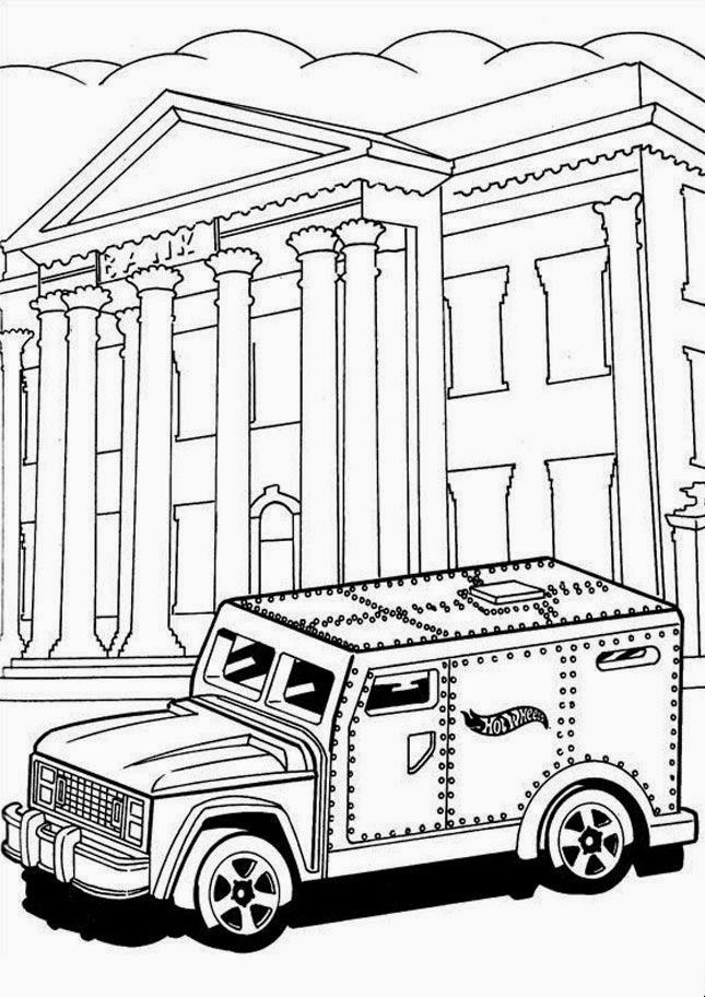 Hot Wheels Coloring Pages 36