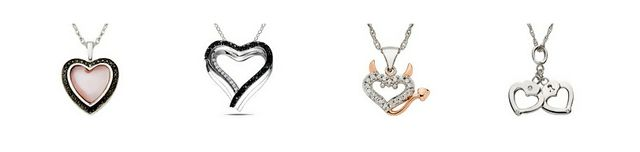 Shop Online for Jewellery - Heart Pendants at Ice.com
