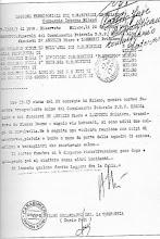 20/12/1943 Rapporto dei Carabinieri comp. interna Milano