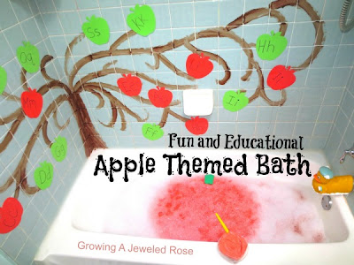 Apple Bath Time fun