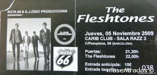 entrada de concierto de the fleshtones