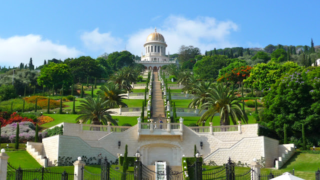 The Hanging Gardens Of Haifa, The Garden Terraces Around The Shrine Of The  Báb On Mount Carmel