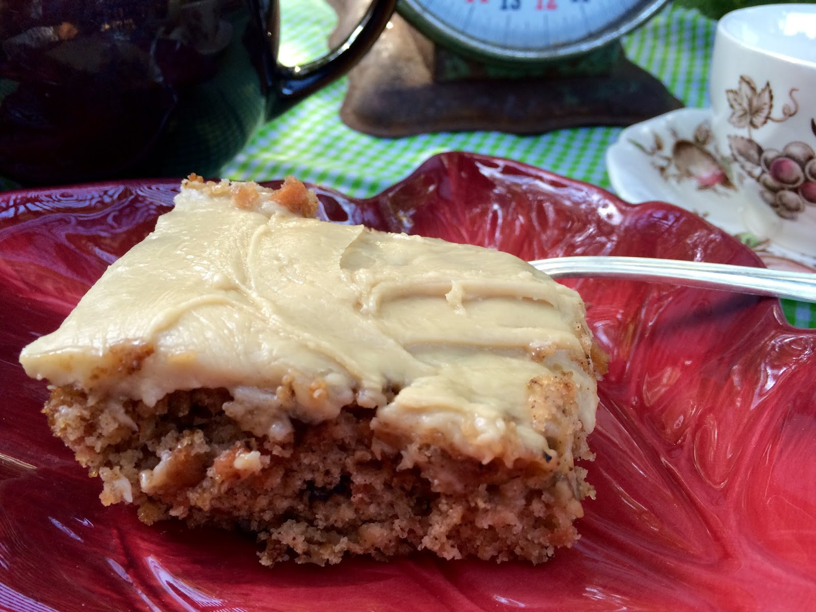 Kitty S Kozy Kitchen Old Fashioned Apple Cake With Brown Sugar Frosting