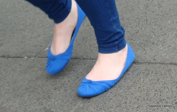 blue ballerina ladies shoes