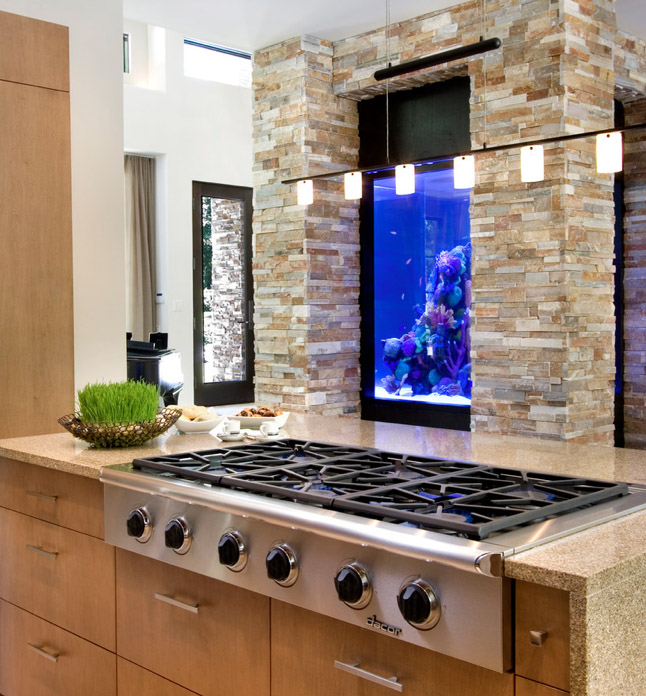 No room for an aquarium think again 20 unusual places in for Fish tank built into wall