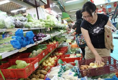 Remaining unperturbed: Despite the price hike, consumers are still willing to splurge on the greens.