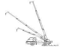 Mewarnai Mobil Crane Teleskopis