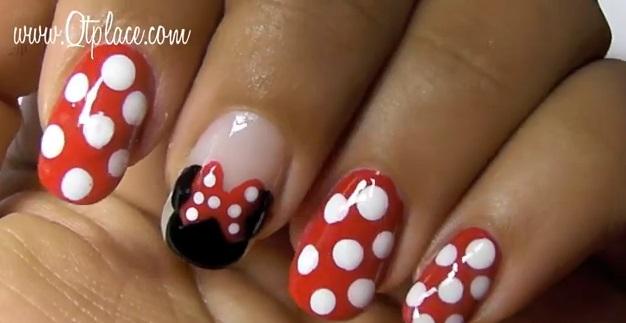 Decora tus uñas al mas puro estilo Minnie Mouse