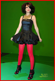 Selena Gomez & the Scene song YouTube music video Naturally little black mini dress red stockings heels HQ HD pics
