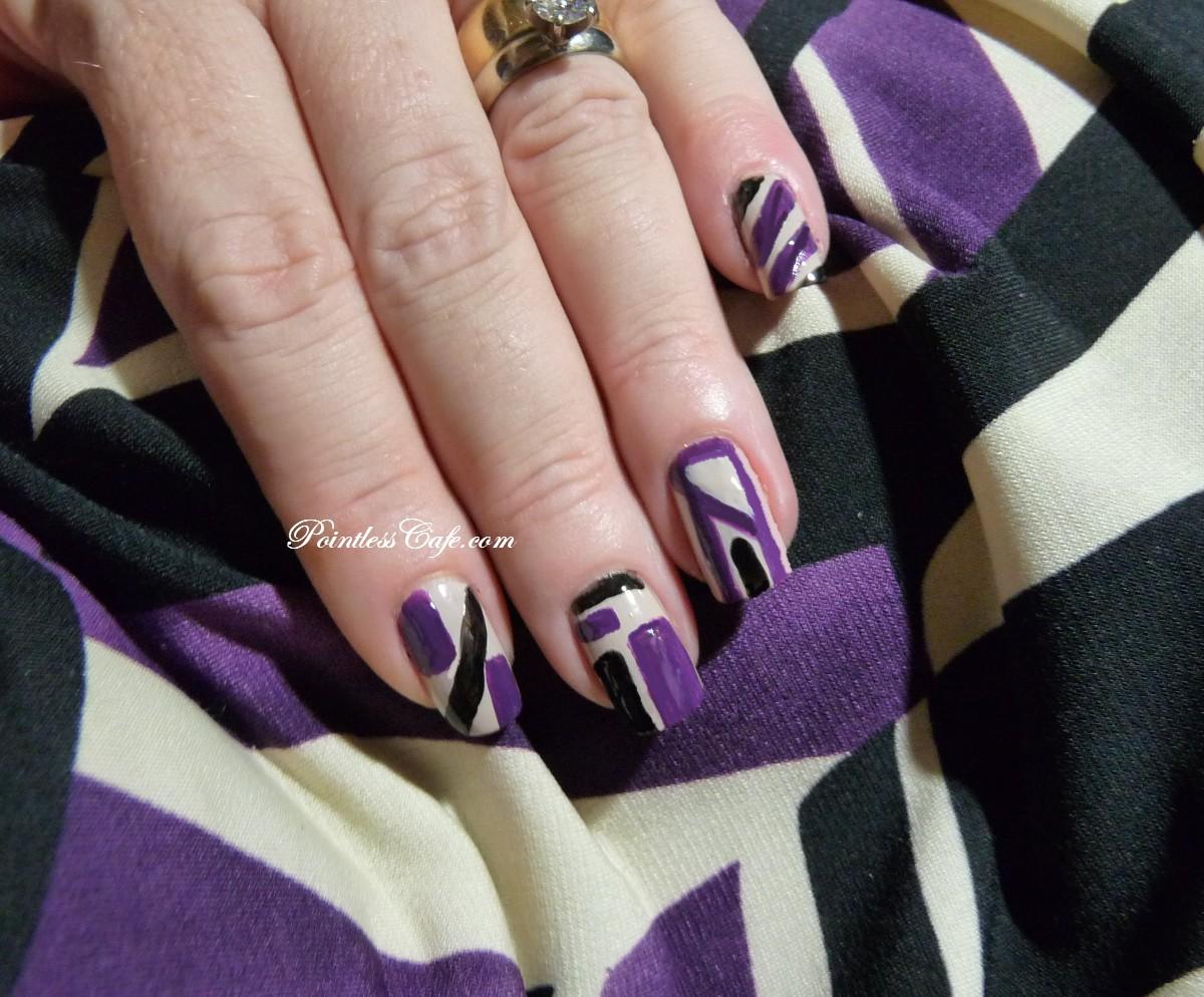 Nail of the Day: Nails Inc. Abstract Nail Art | Pointless Cafe