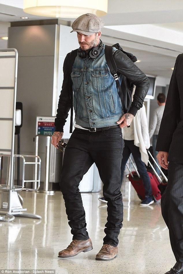 Wear It Like Beckham David Beckham Nyc Airport Style