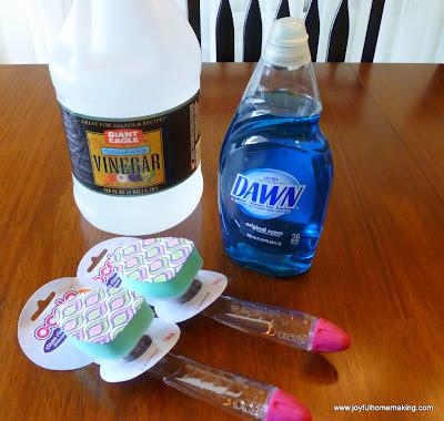 how to open dawn dish brush