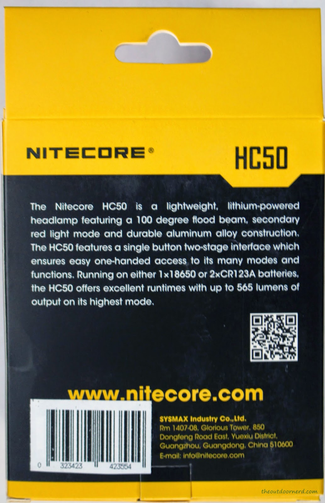 Nitecore HC50 Headlamp Box 2