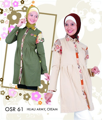 Katalog Fashion Osmoes Pakaian Wanita Muslim Hijau Army Cream