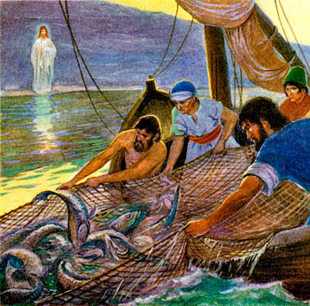 Loyola parish jesus and the miraculous catch of fish for Fishing in the bible
