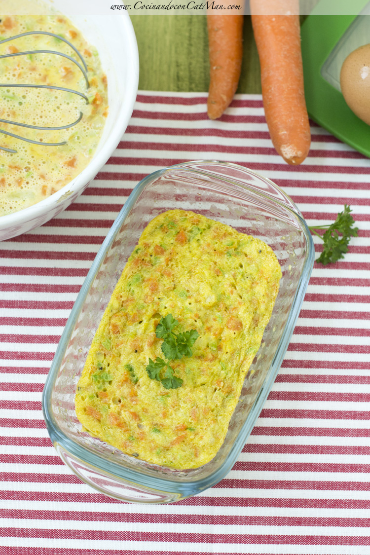 receta microondas flan de zanahoria y calabacín