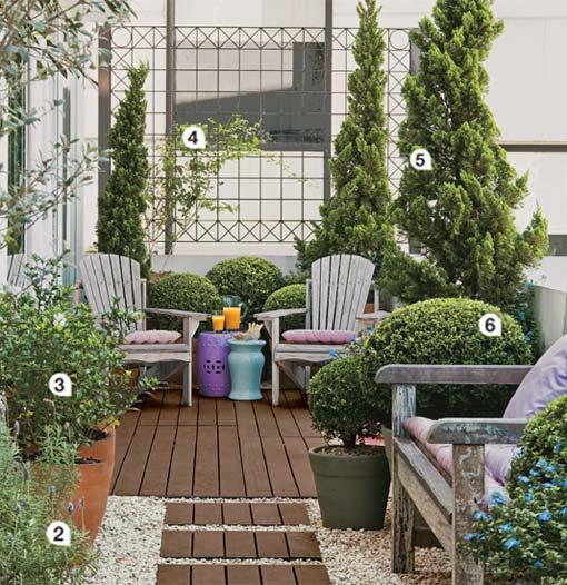 decoracao jardim e varanda