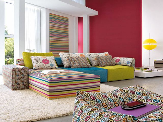 Living Room Paint Ideas With Rainbow Colour