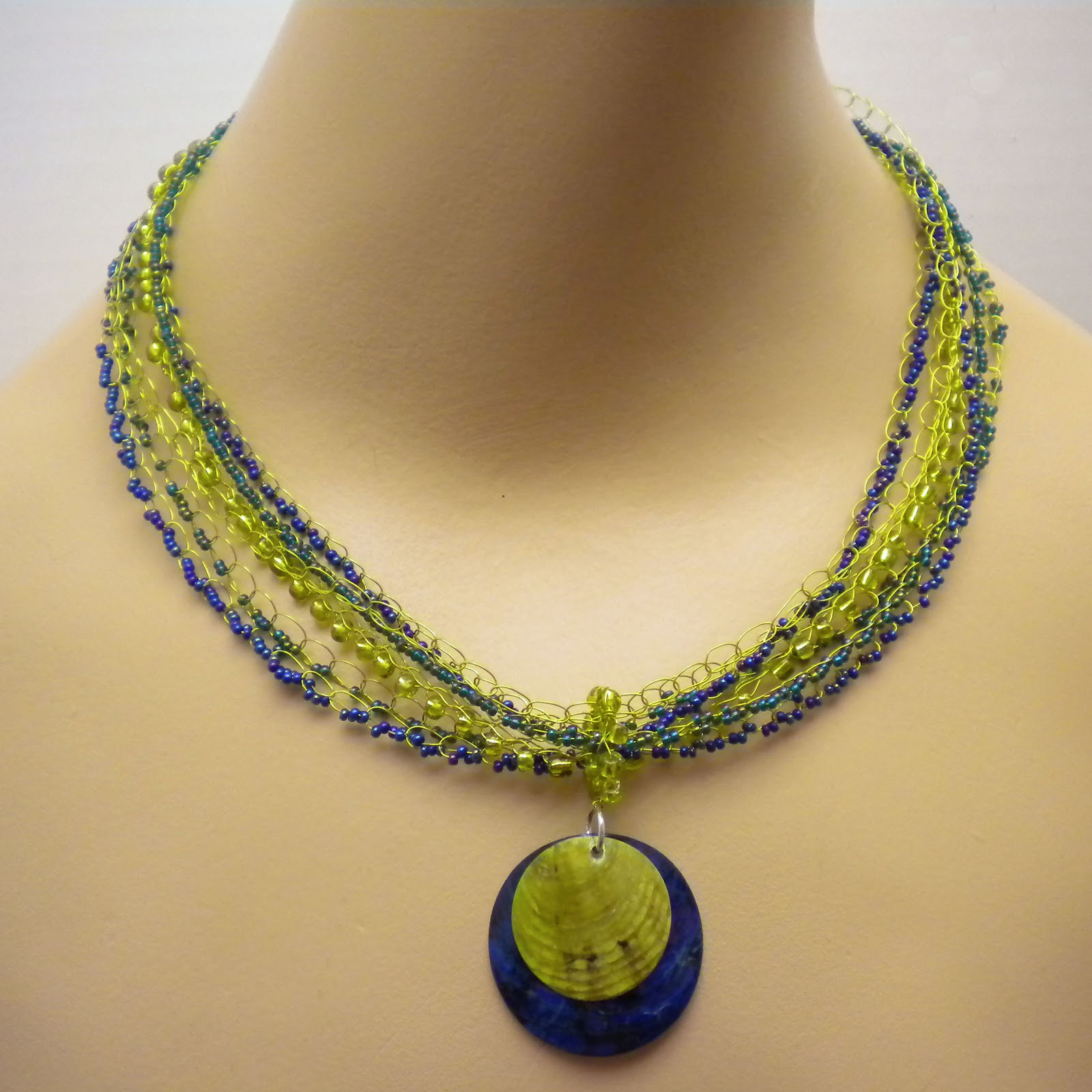 Crochet Necklace : Be~Jeweled by jana: Mermaid Wire Crochet Necklace