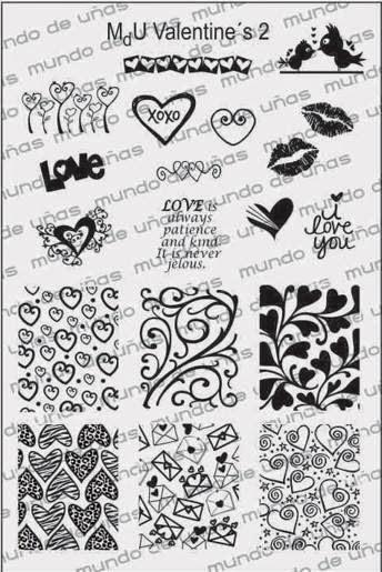 Lacquer Lockdown - Mundo de Unas, MdU nail art stamping plates, Mundo de Unas nail art stamping plates, valentines day nail art, valentines day nail art stamping plates, valentines day, diy nail art, indie nail art stamping plates, new stamping plates 2014, nail art stamping plates 2014, nail art stamping blog, cute nail art ideas