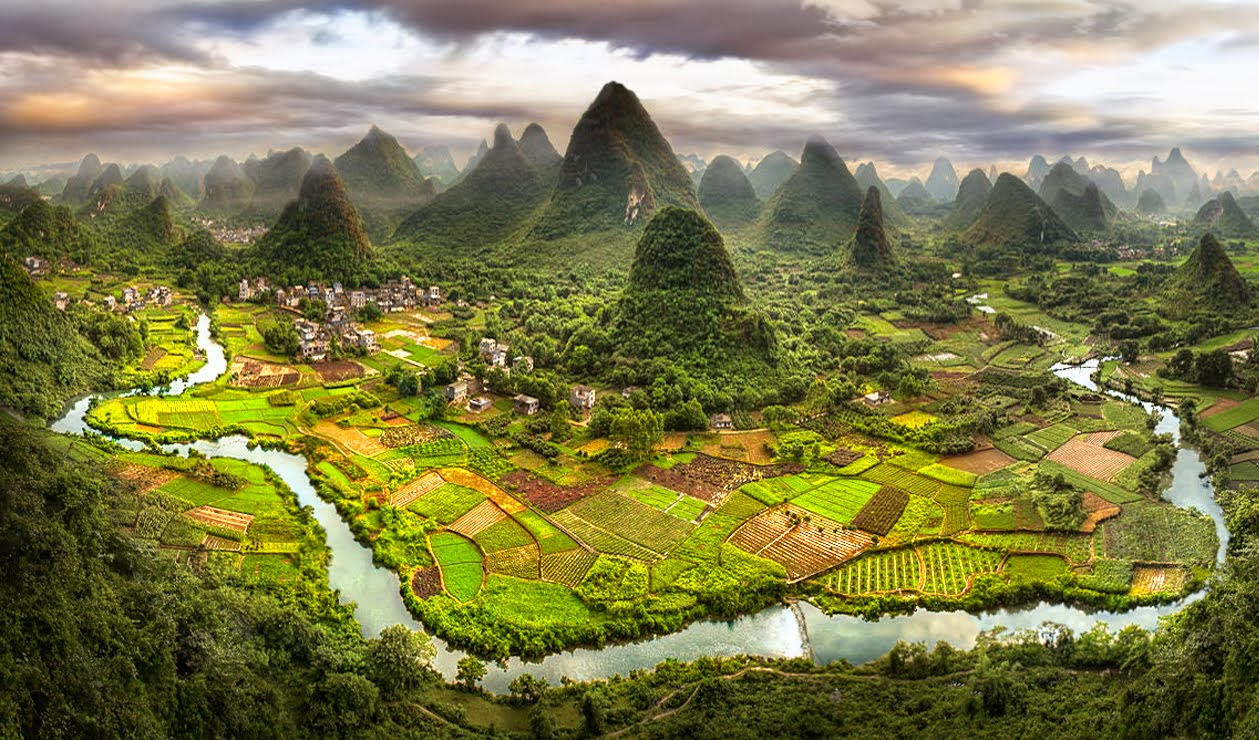 Awesome landscape of Yangshuo