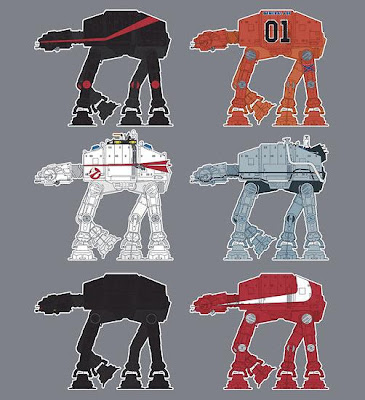 AT-AT Pop Culture Inspired Star Wars T-Shirts By SevenHundred - The A-Team, The Dukes of Hazzard, Ghostbusters, Back to the Future, Knight Rider & Starsky and Hutch