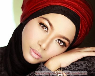 Hijab style maquillage 2014