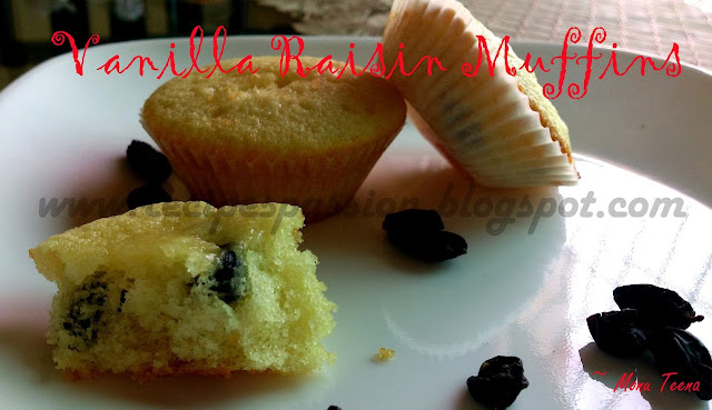 Baking, birthdays, Desserts & Sweets, festival recipes, festivals, Kids recipes, new year, party recipes, raisins, sweets, simple vanilla recipe, Muffin recipe, Vanilla, vanilla muffins,