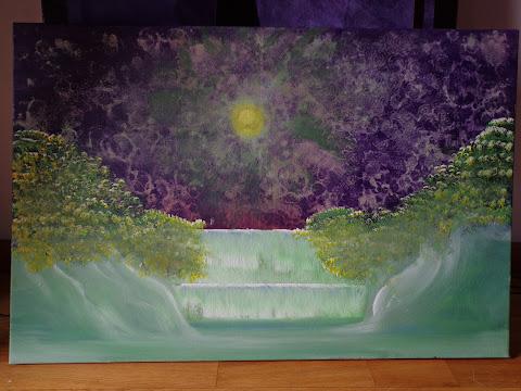 quadro pintado em acrilico