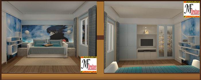 Setting Interior Kamar Tidur Anak - Children Bedroom