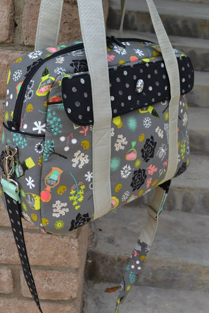 The Nappy bag Pattern by Mrs H - Sewn by Crystal Chadwick