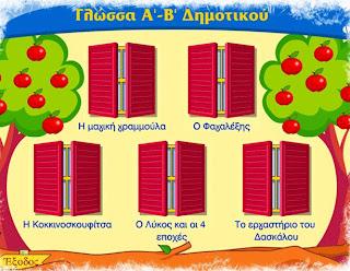 Λογισμικό Γλώσσας Α΄& Β΄Δημοτικού Π.Ι.