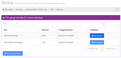 cara backup data wordpress