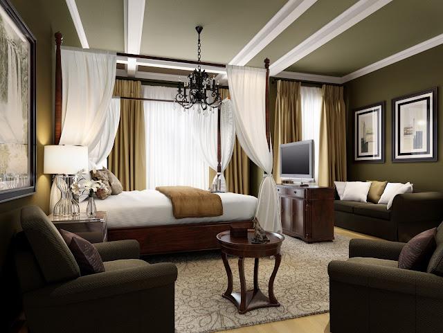 Mẫu trần thạch cao phòng ngủ khách sạn