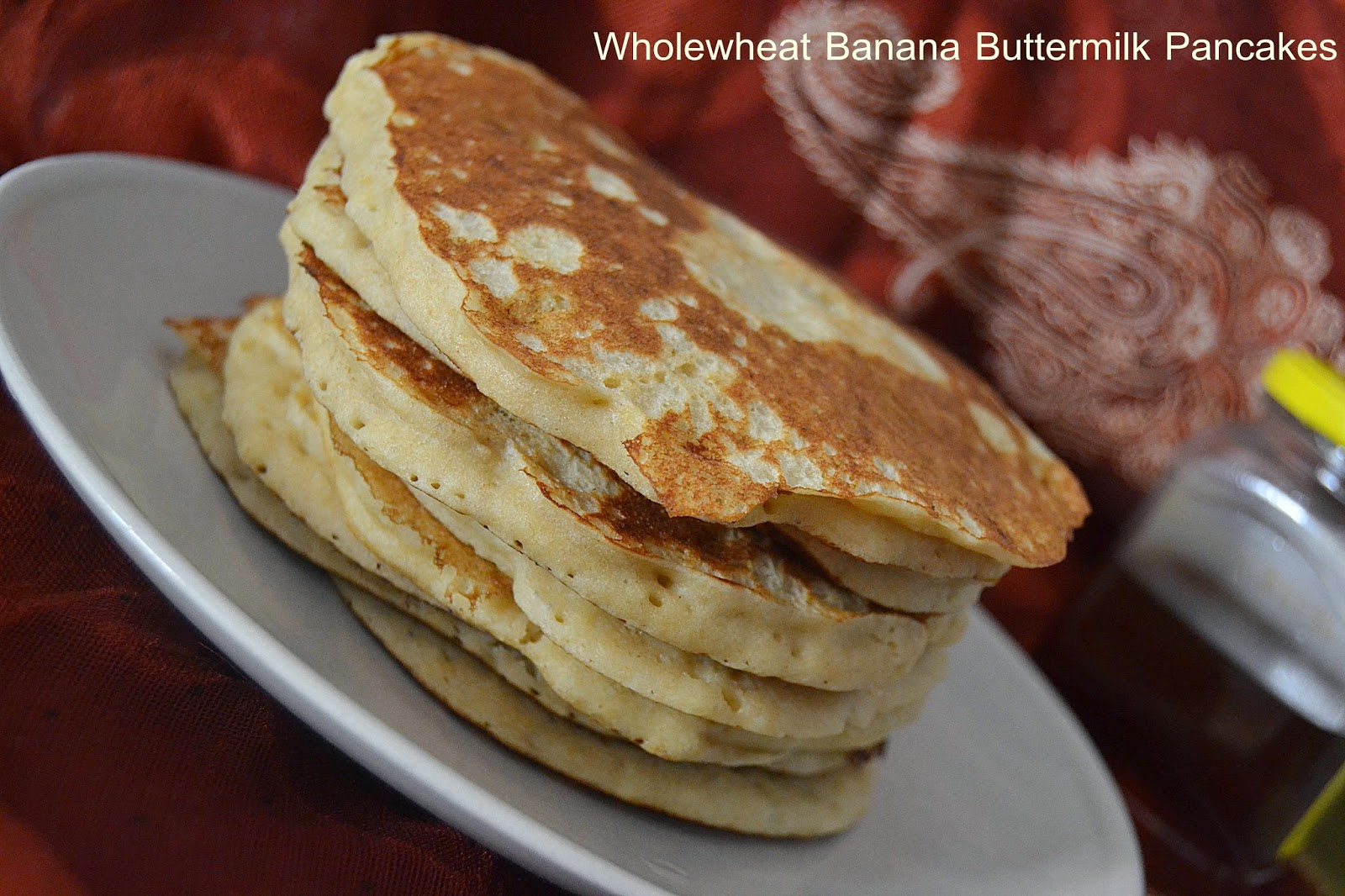 The Big Sweet Tooth: Wholewheat Banana Buttermilk Pancakes