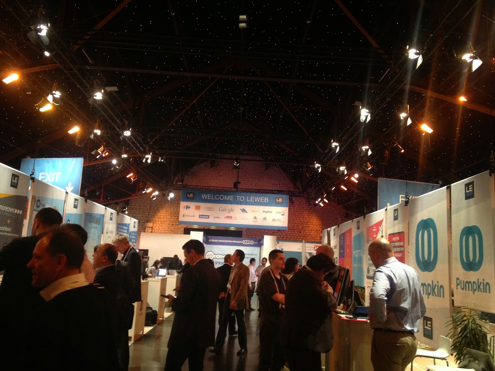 Exhibitors at LeWeb'14 Paris