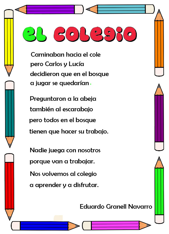 Poemas Para La Escuela
